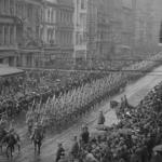 Trrops march through Melbourne